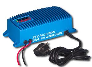24V Acculader, stof- en waterdicht, voor diverse merken elektrische mestschuiven uit voorraad leverbaar.